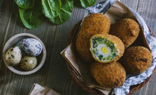 Uova alla scozzese verdure